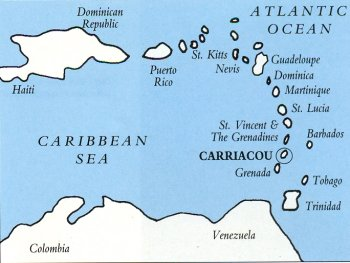 Location of Carriacou