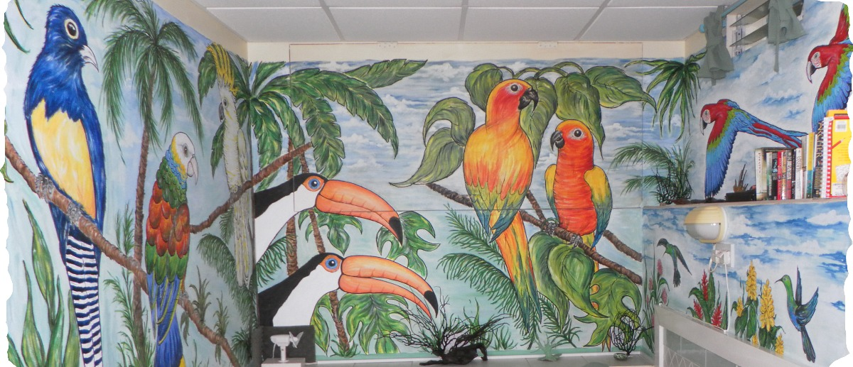 Wall Murals Handpainted By Your Host Marie